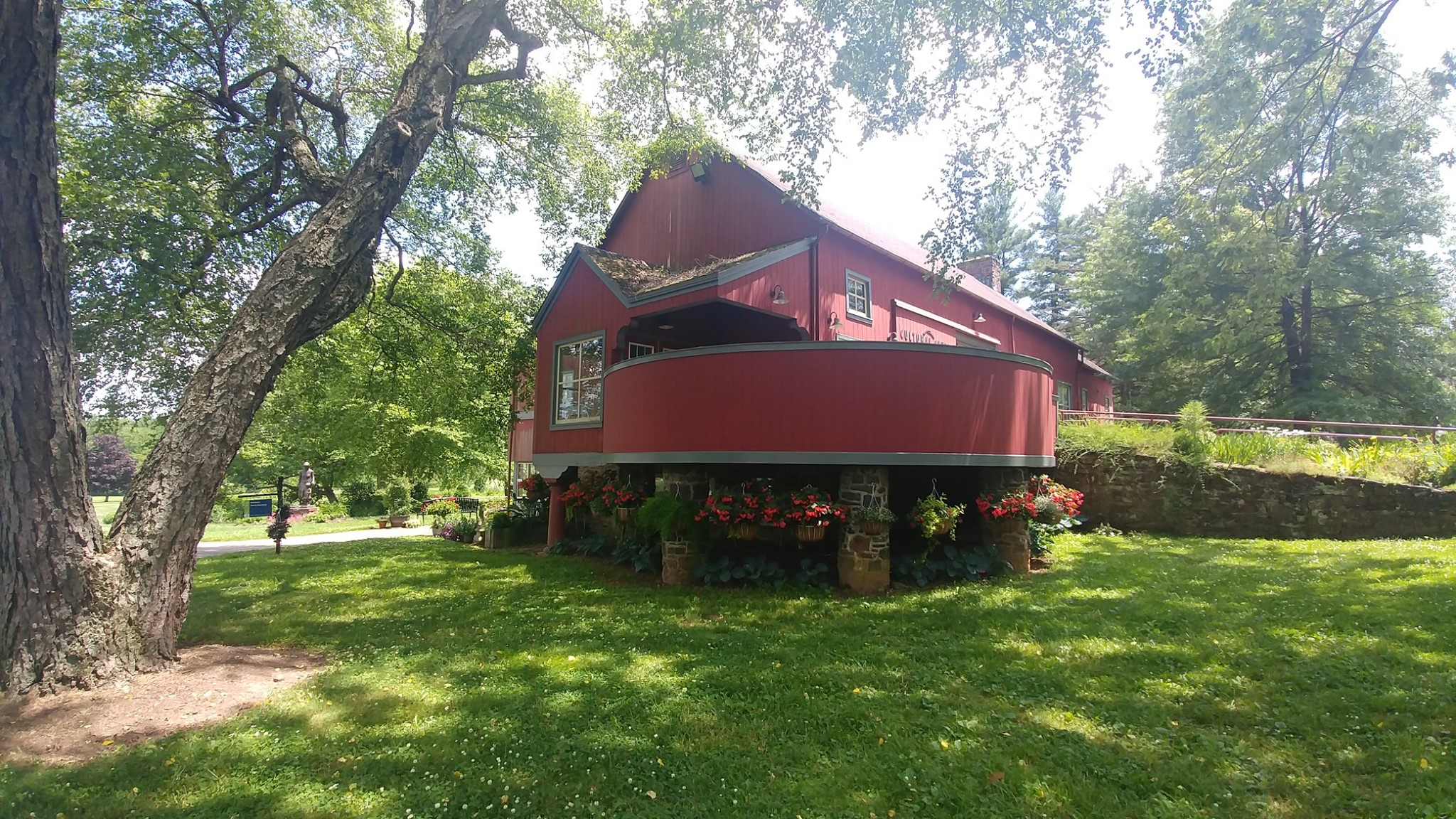 Pearl Buck's red barn now the Cultural Center