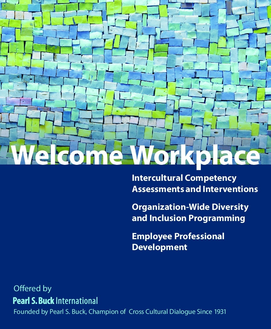 Welcome Workplace brochure with mosaic design