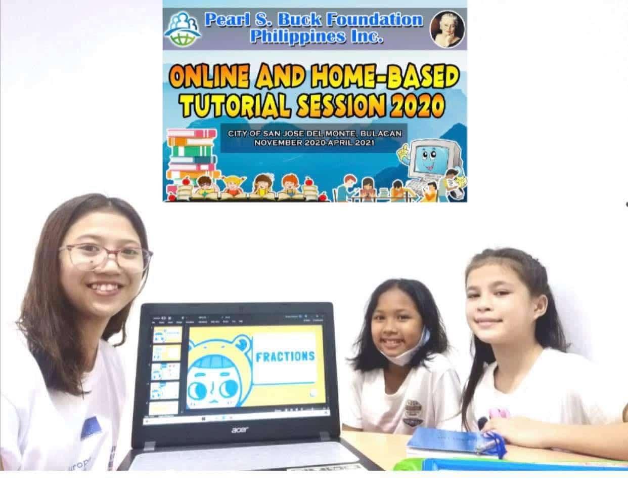 Tutors help sponsored children through the Philippines Tutorial Program